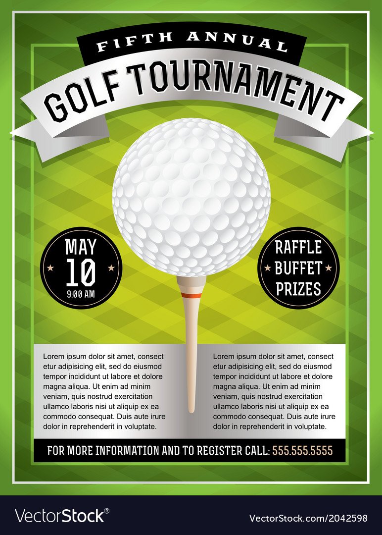 Golf Flyer and Poster vector image