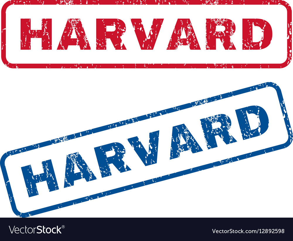 Harvard Rubber Stamps vector image