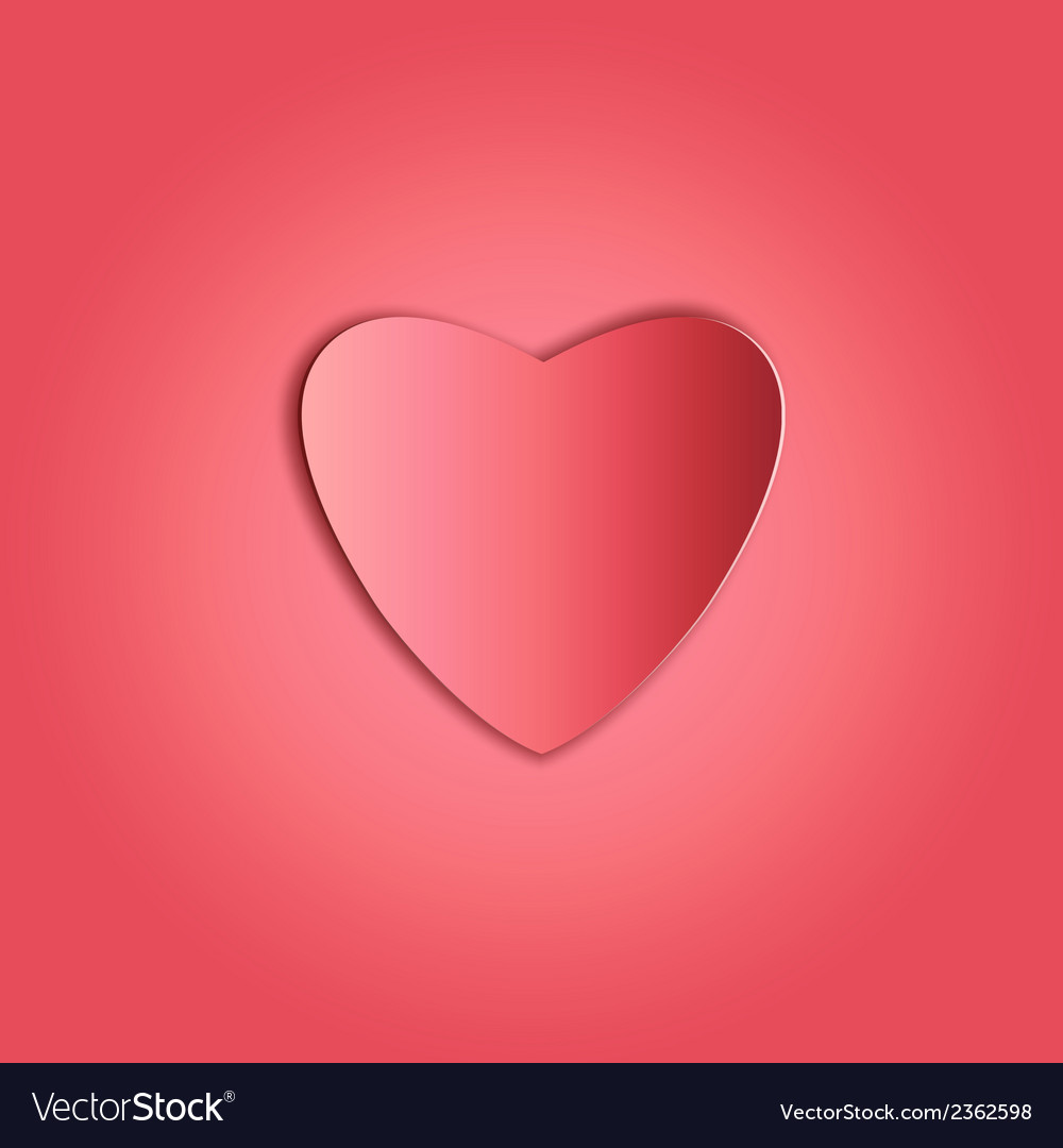 Heart paper copy vector image