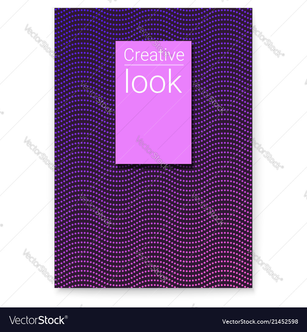 Poster with wavy striped halftone pattern vector