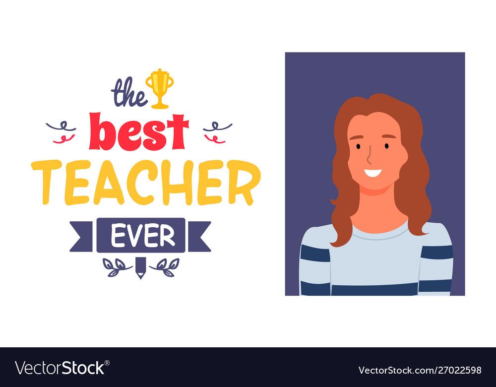 Teachers appreciation week award best pedagogue
