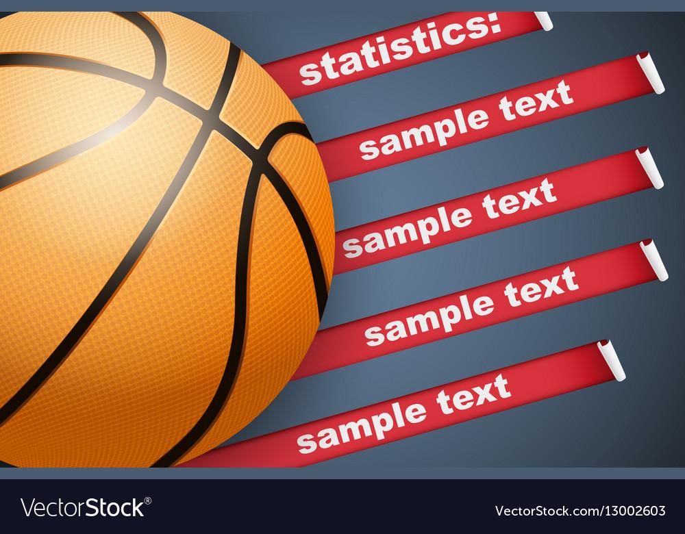 Background of Statistics Basketball vector image