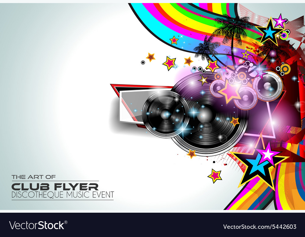 Disco Flyer Art for Music Event backgrounds