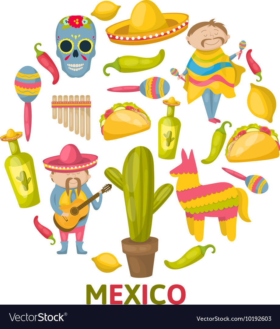Mexican Round Composition vector image