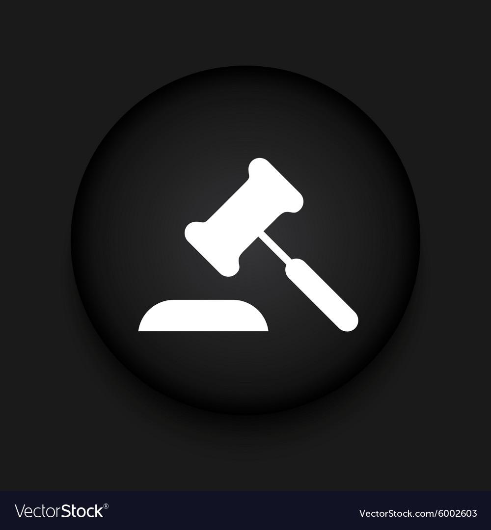 Modern courthouse black circle icon