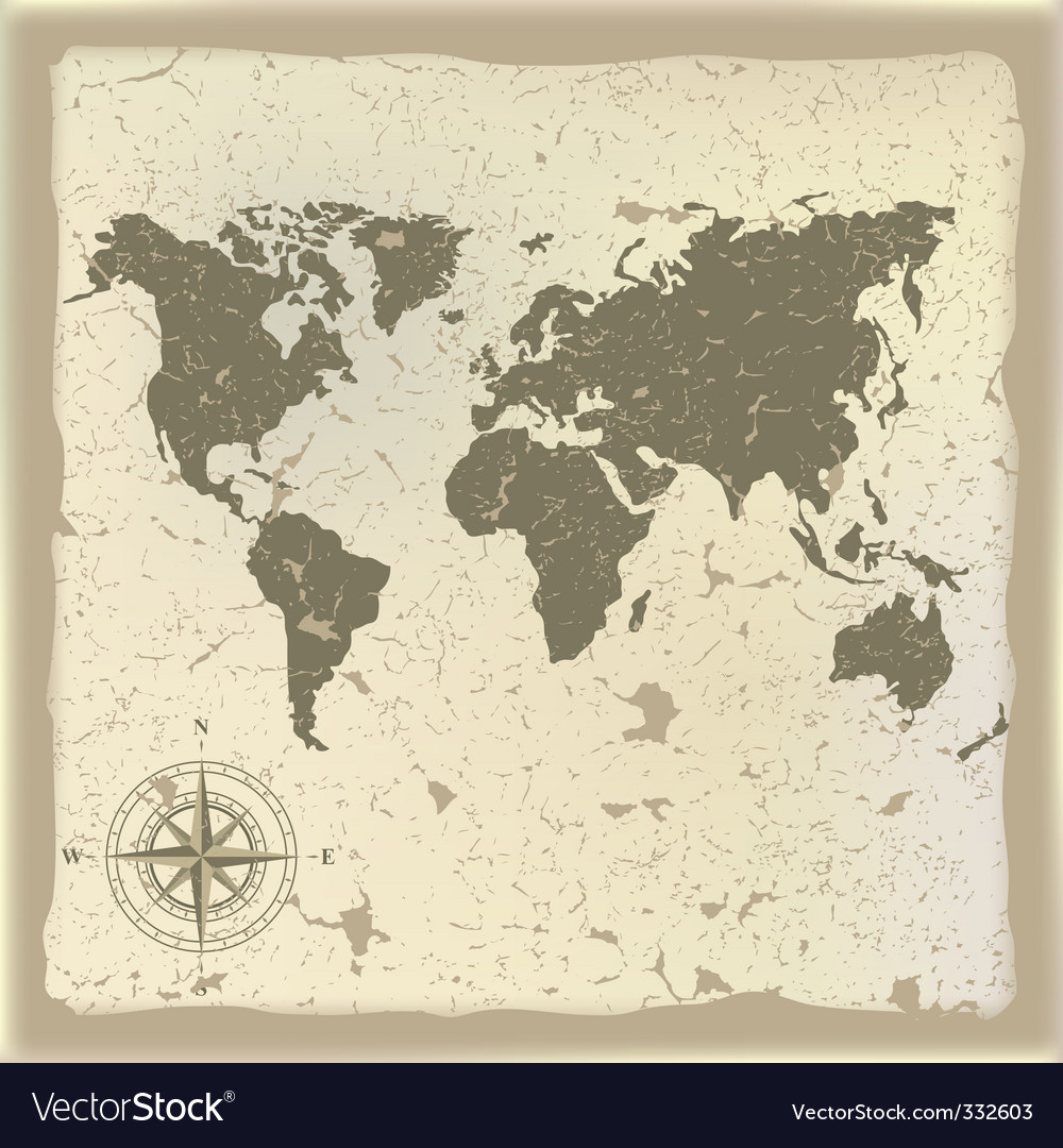 old map royalty free vector image vectorstock