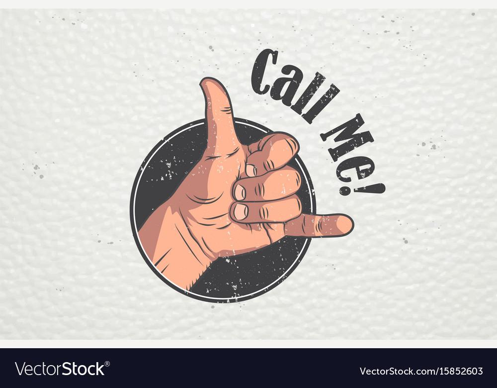 Realistic hand gesture - call me shaka brah