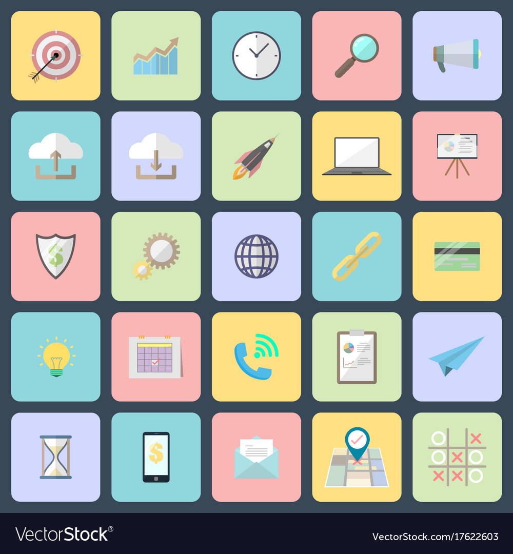 Simple flat design icons