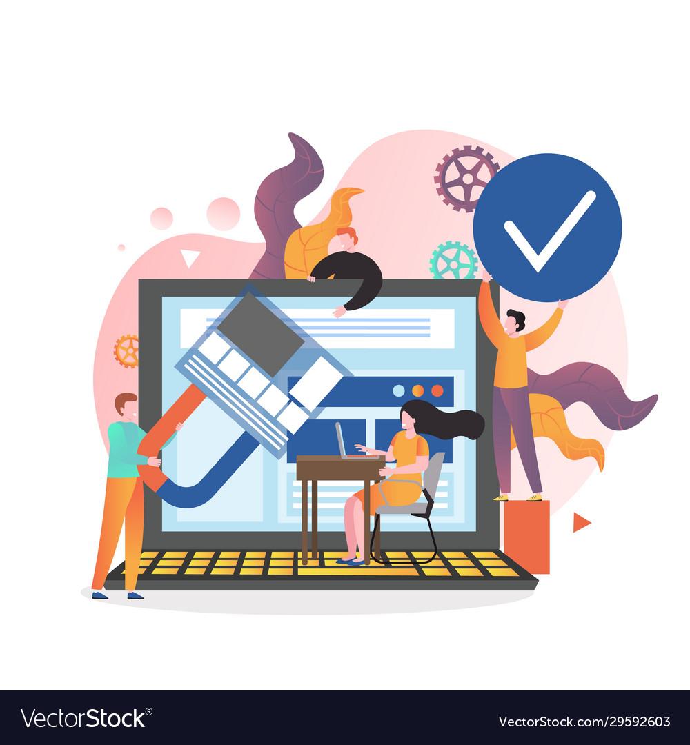 Web designer services concept