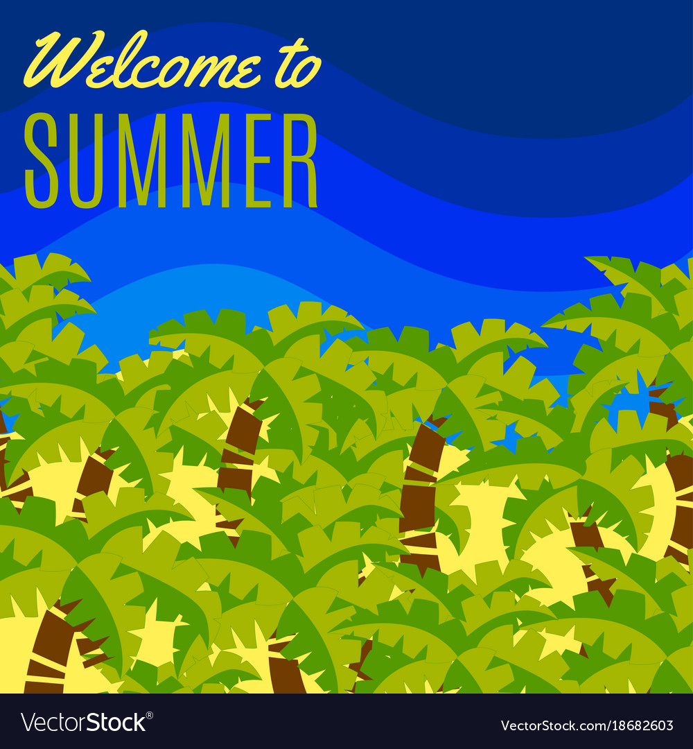 Welcome to summer postcard