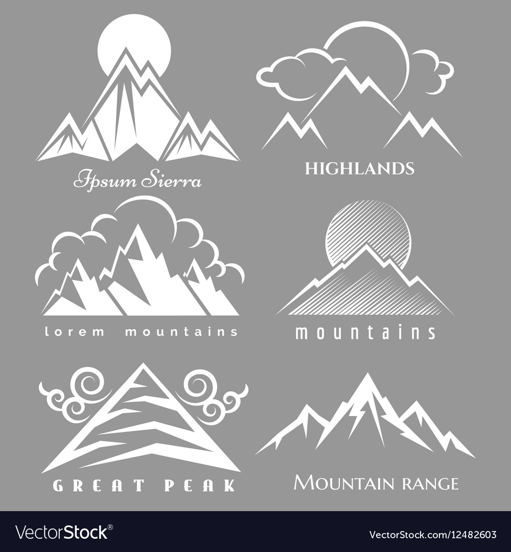 White mountain logo set