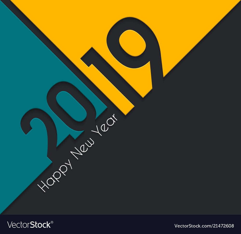 2019 happy new year greeting card vector image