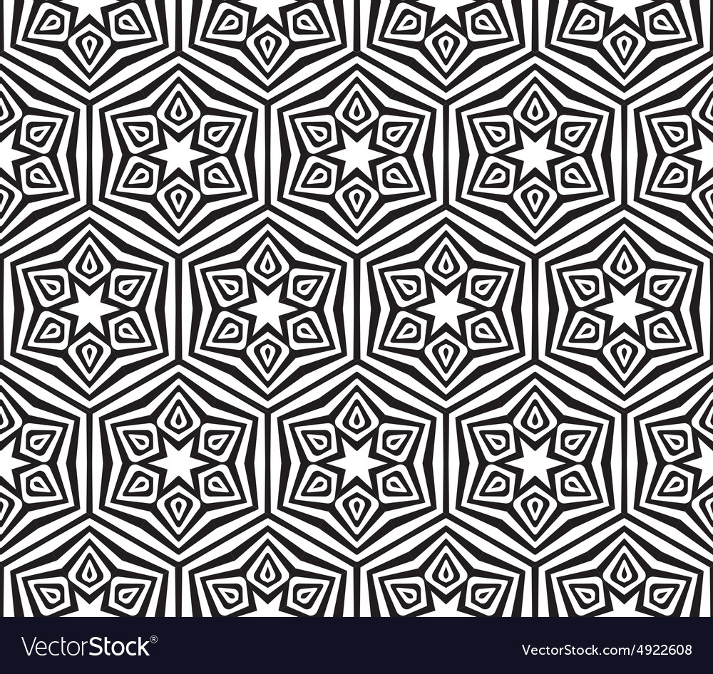 Abstract black and white textured geometric
