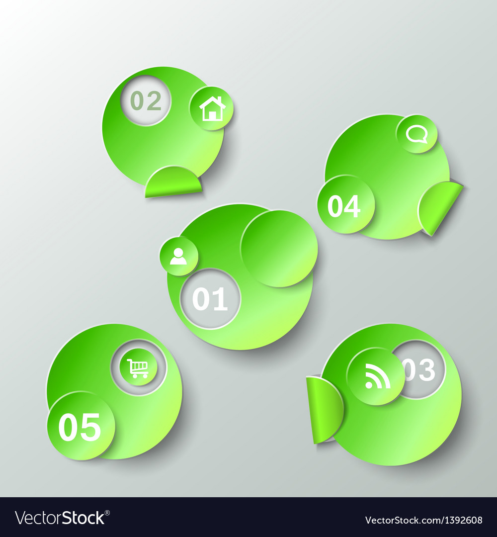 Abstract template for data presentation paper vector image