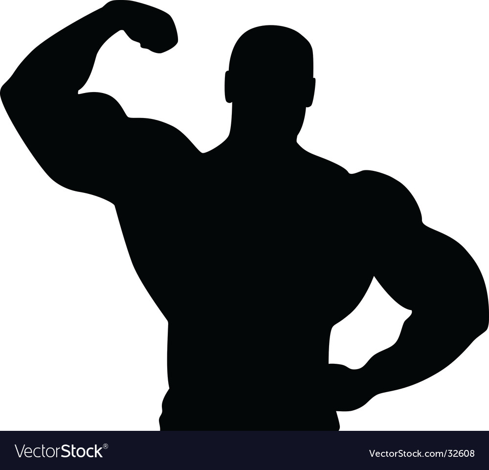 Athlete silhouette vector image