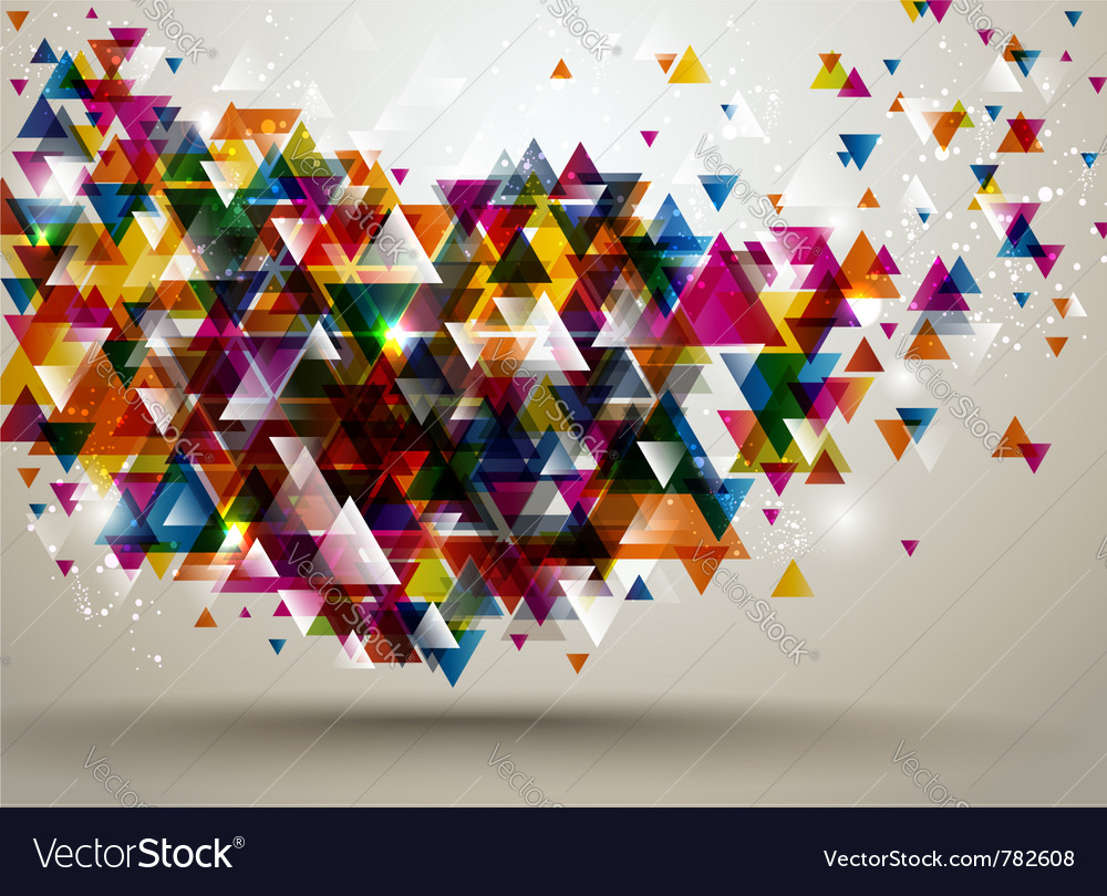 Background with triangle pattern