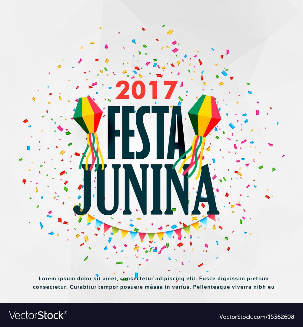 Festa junina celebration poster design with