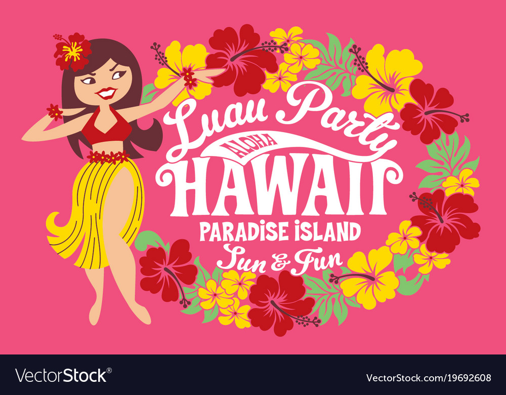 Luau party hawaii paradise island