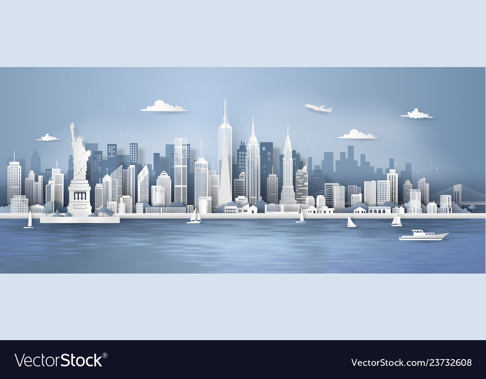 Manhattannew york city panorama skyline