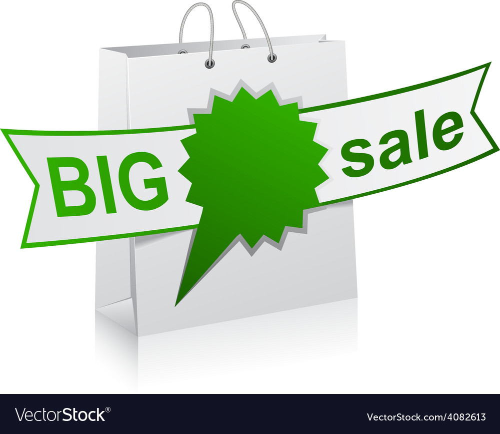 BIG sale green symbol