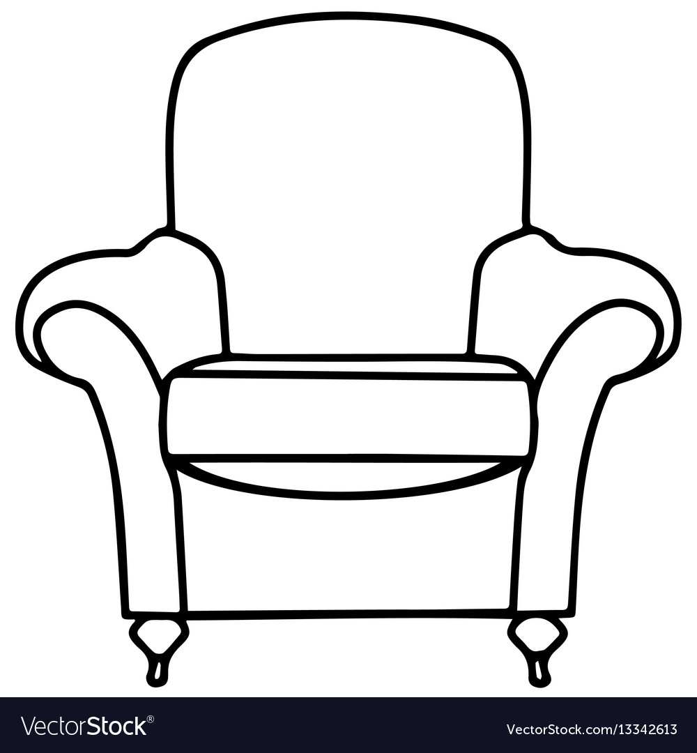 Chair sofa isolated flat web mobile icon