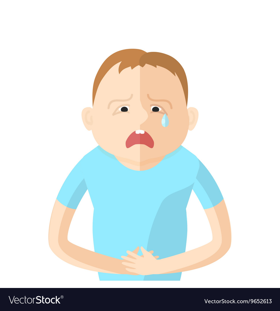 Children have an abdominal pain Character in Flat