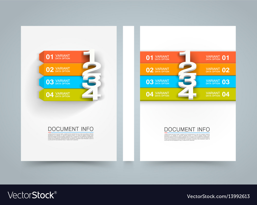 Document information menu banner book a4 size vector image