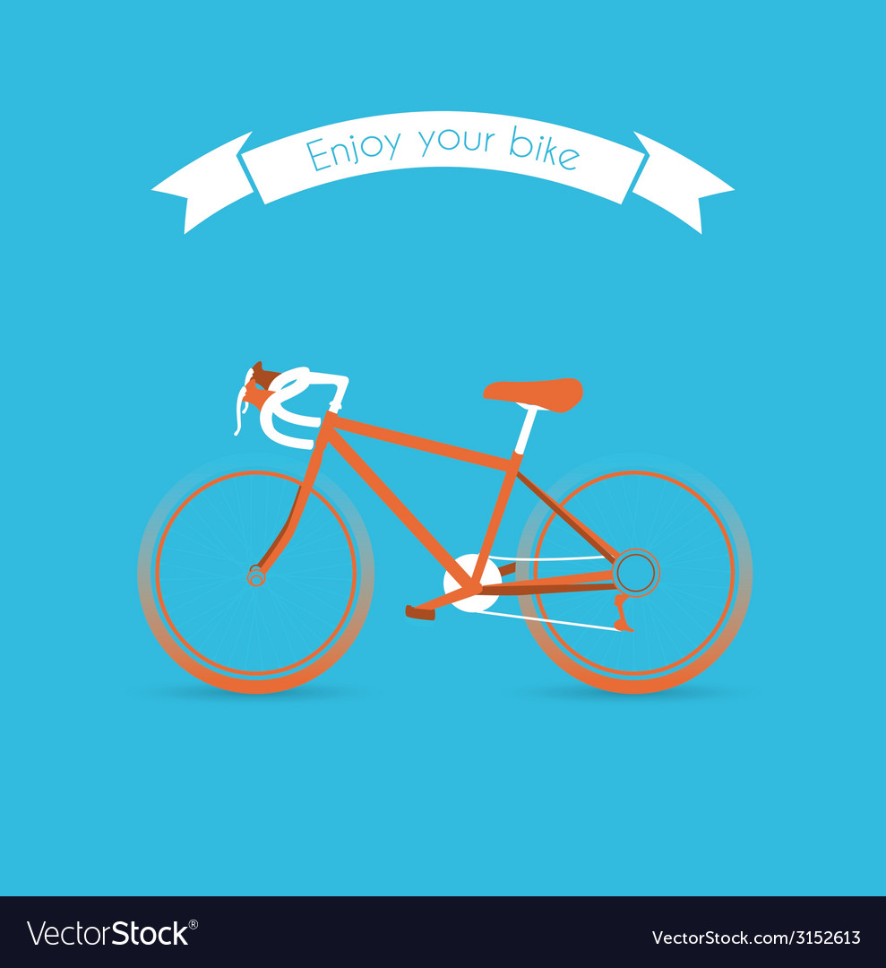 Engoy your bicycle image vector image