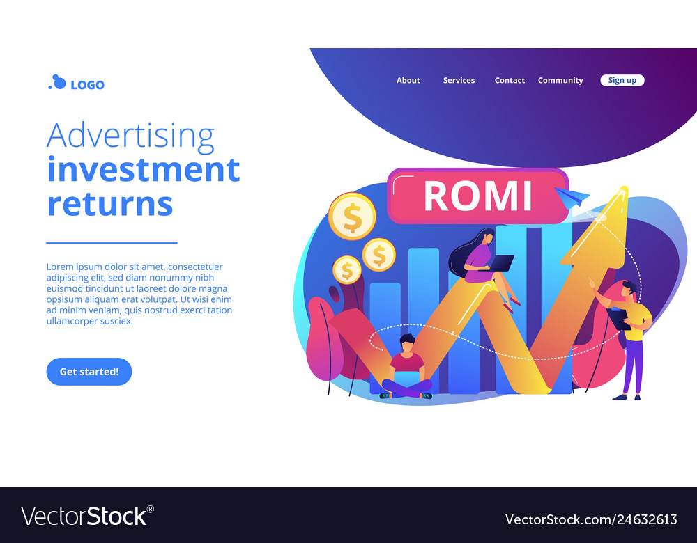 Marketing investment concept landing page