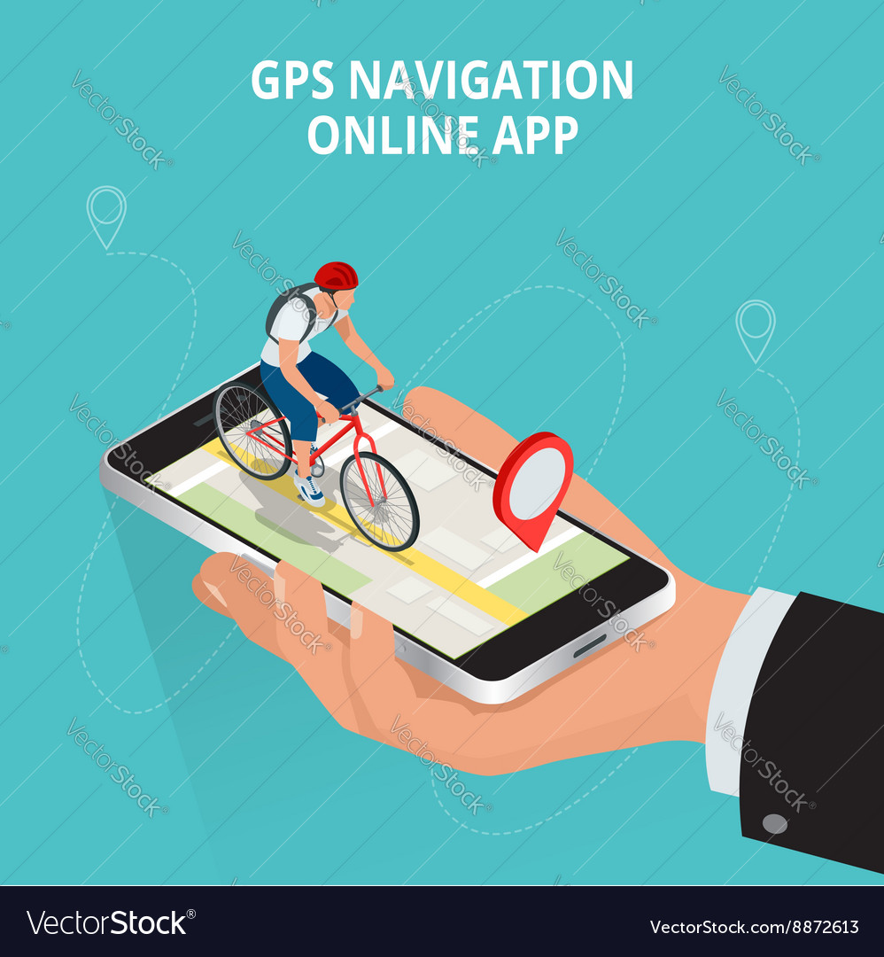 Mobile GPS navigation travel and tourism concept