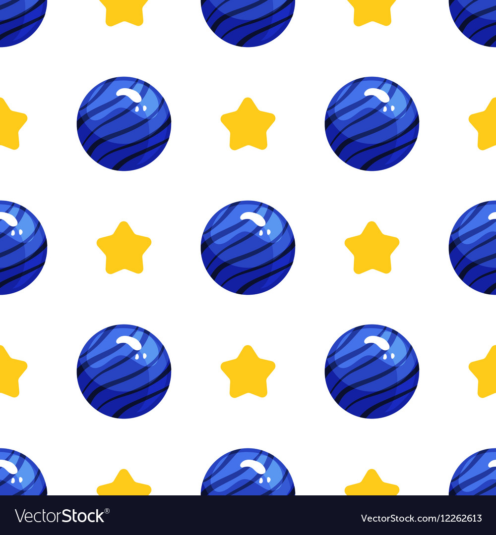 Seamless pattern with shiny button