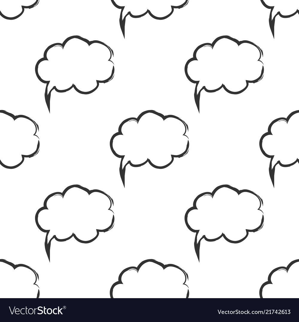 Seamless pattern with speech bubbles welcome