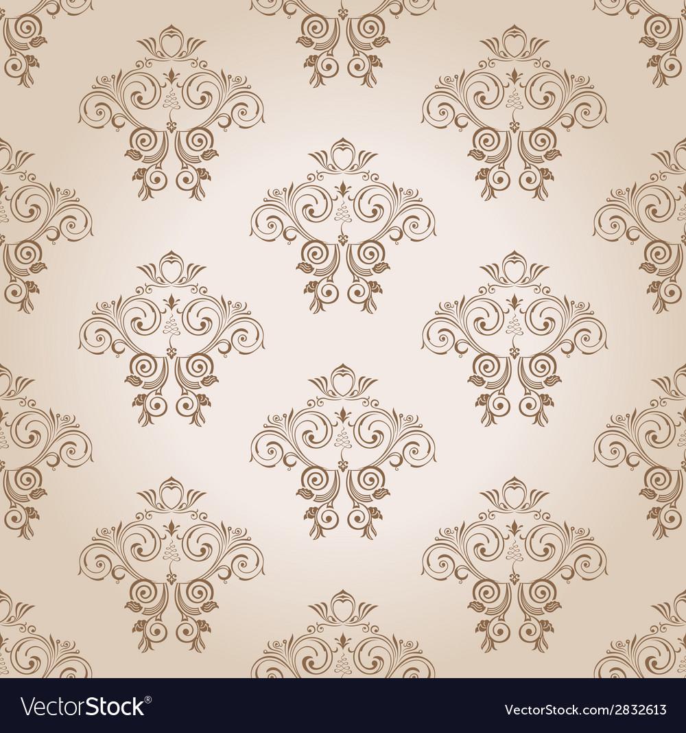 Seamless wallpaper curves vintage background