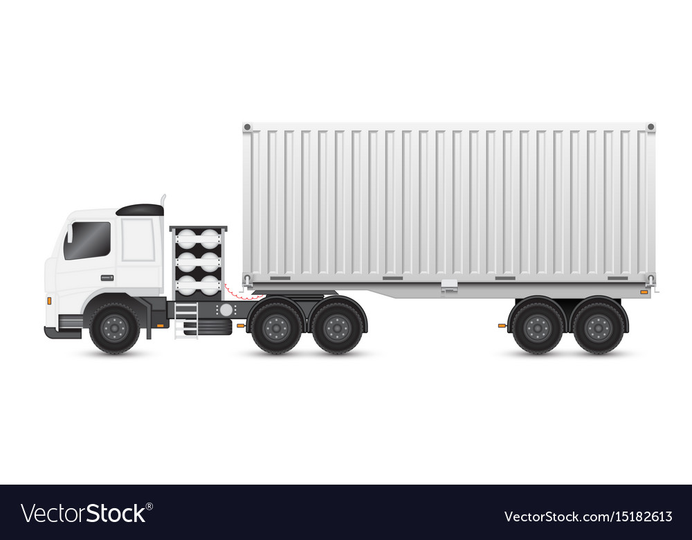 Trailer and container vector image