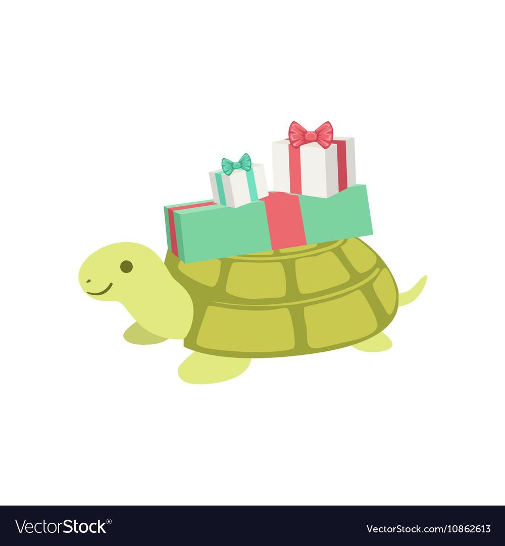 turtle birthday Turtle Cute Animal Character Attending Birthday Vector Image turtle birthday