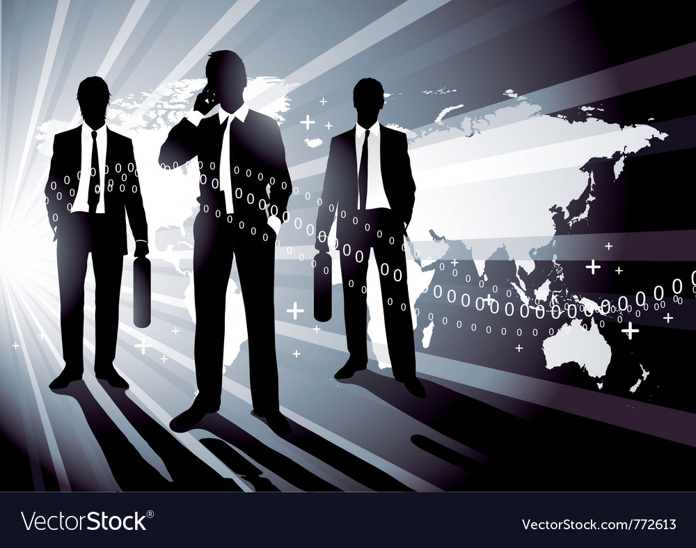 World business concept vector image