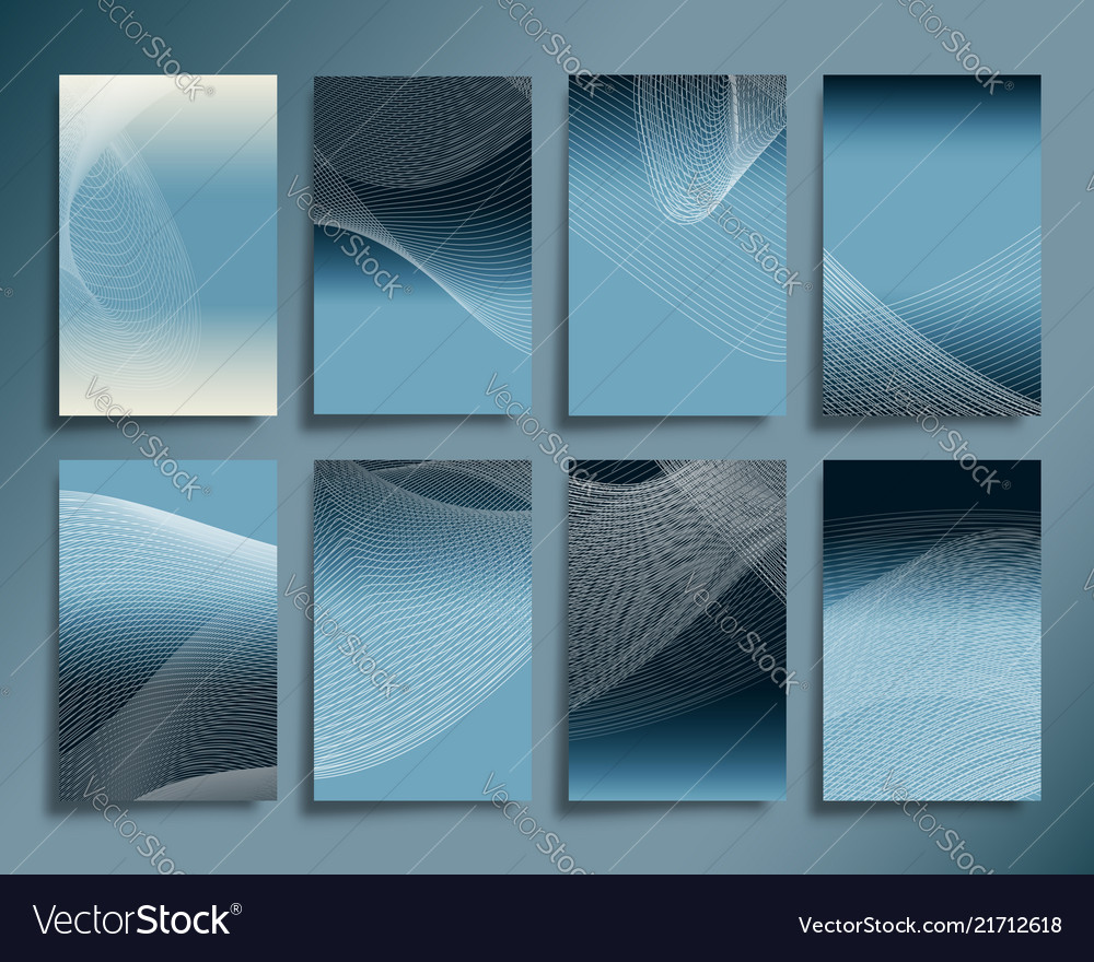 Abstract line waves with gradient background