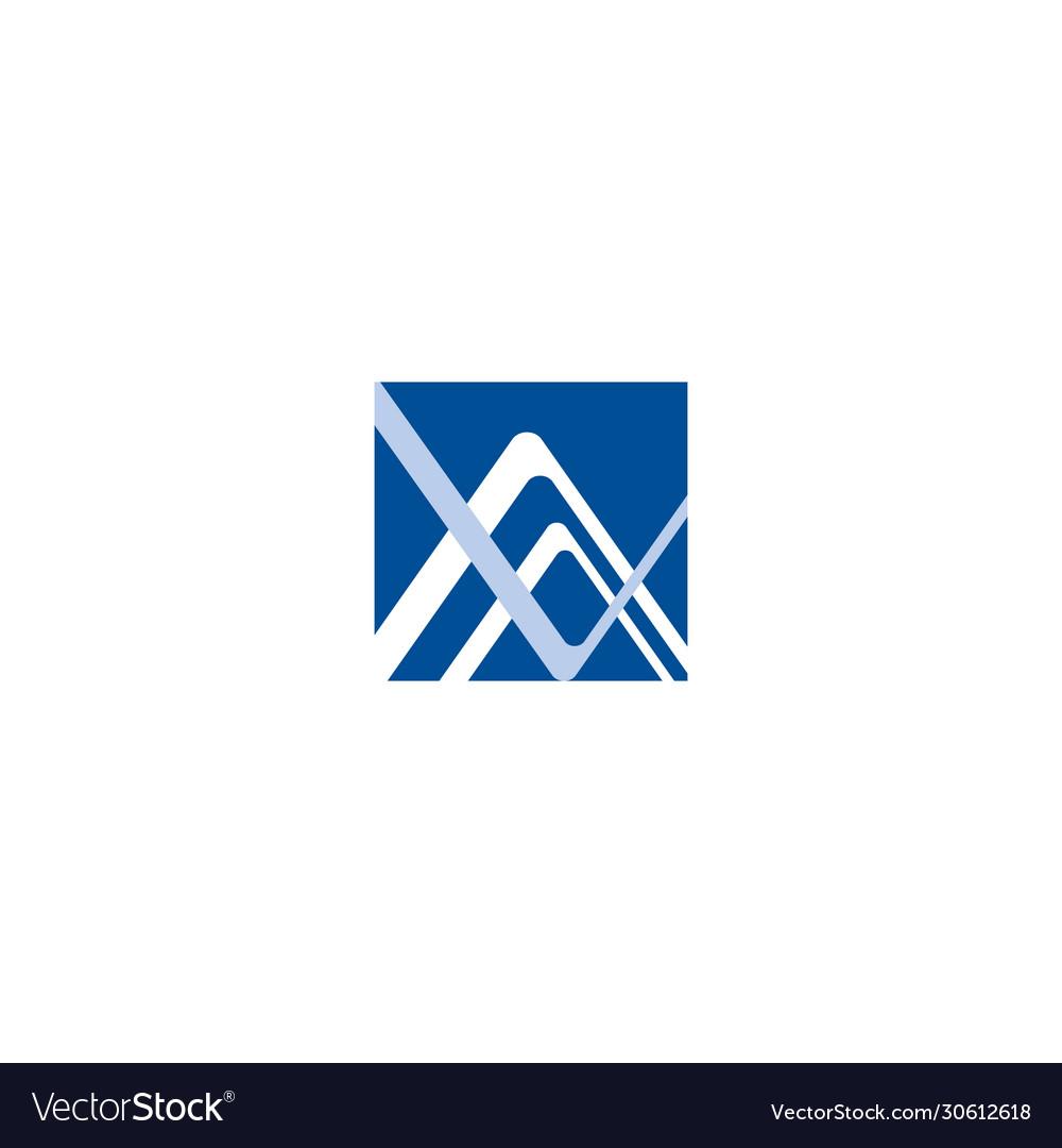 Av va a v initial based letter icon geometric logo