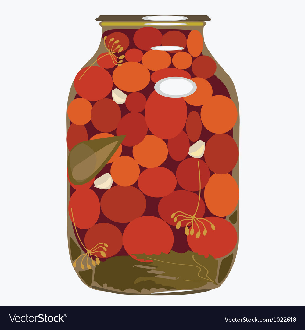 Bank of tomatoes vector image