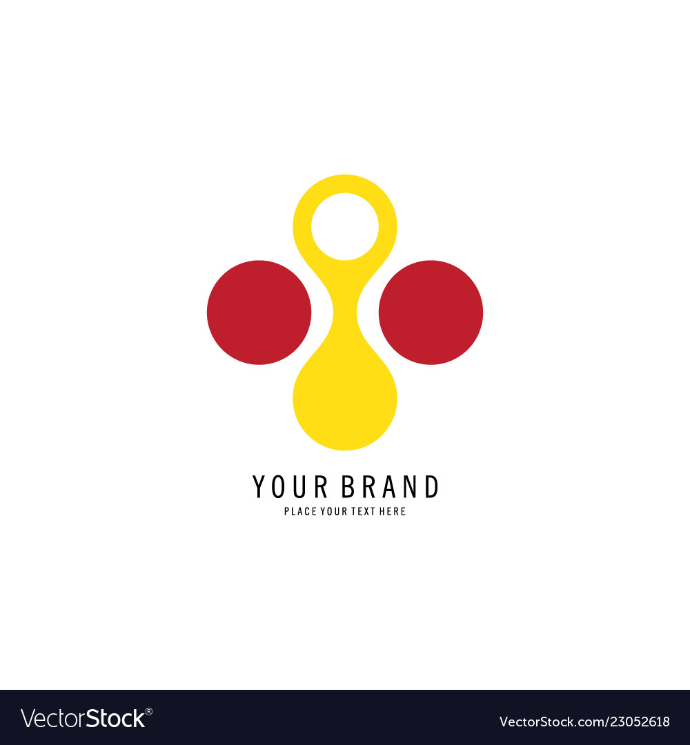 Circle dot abstract logo