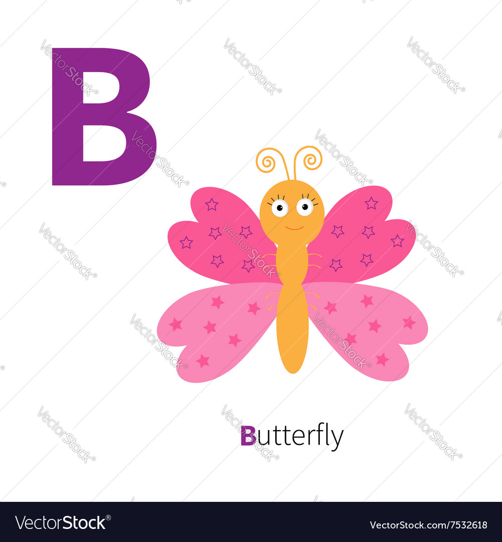 Letter C Butterfly insect Zoo alphabet English abc