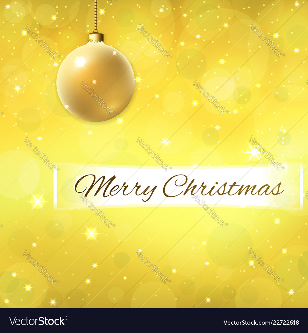 Merry christmas text on decoration gold background