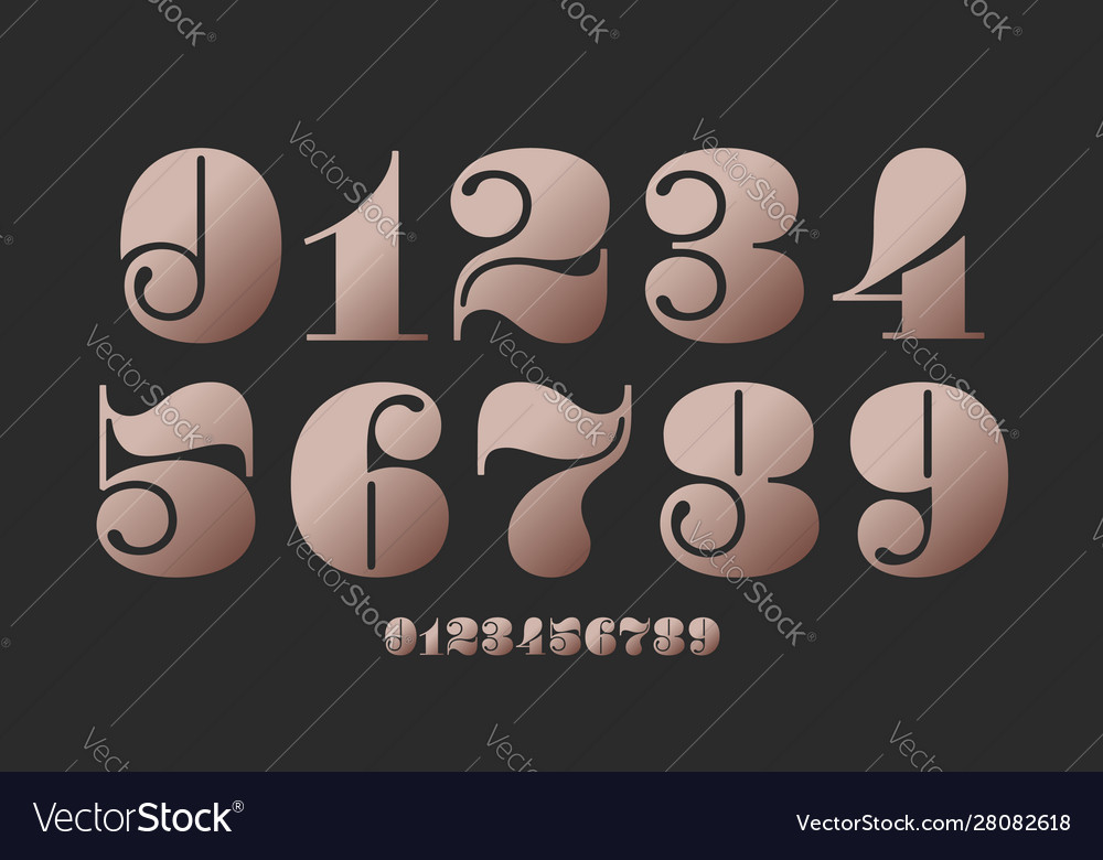 Number font font numbers in classical french