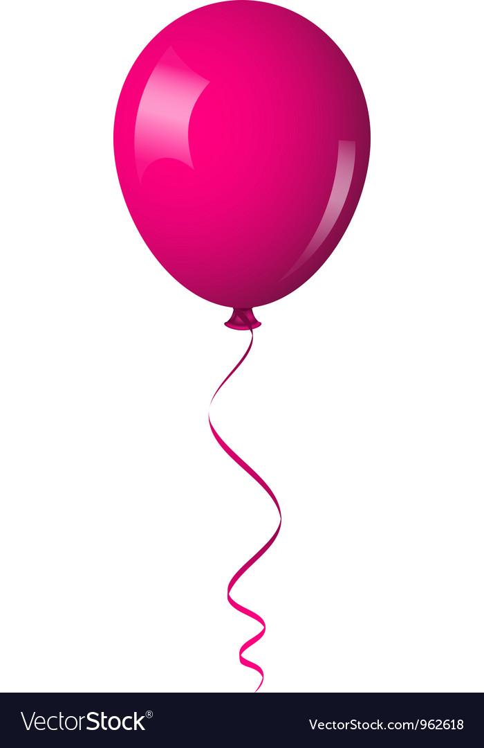 pink shiny balloon royalty free vector image vectorstock rh vectorstock com balloon vector art free balloon vector free