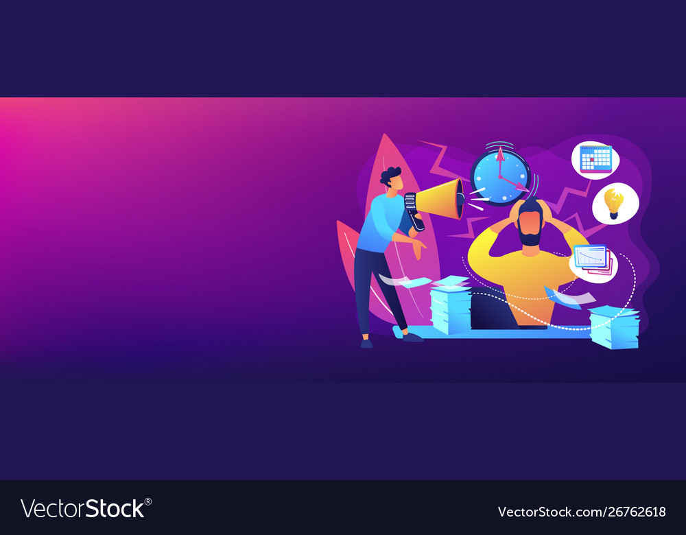 Stress Concept Banner Header Royalty Free Vector Image