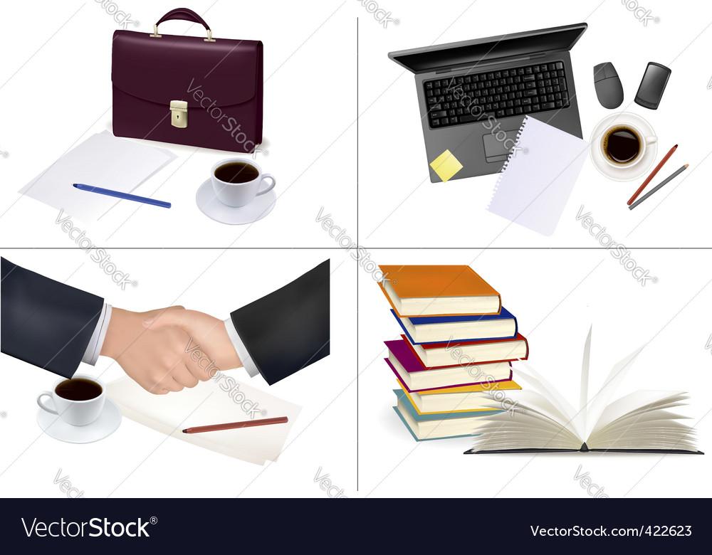 Mega set of office backgrounds vector image