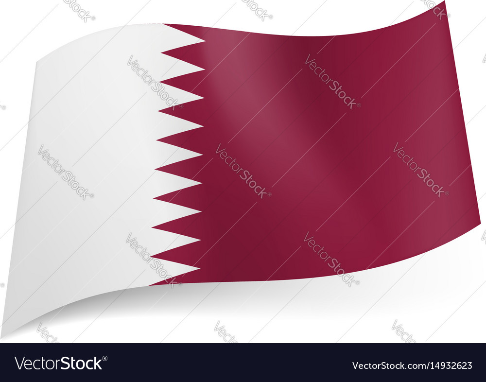 National flag of qatar white and maroon bands