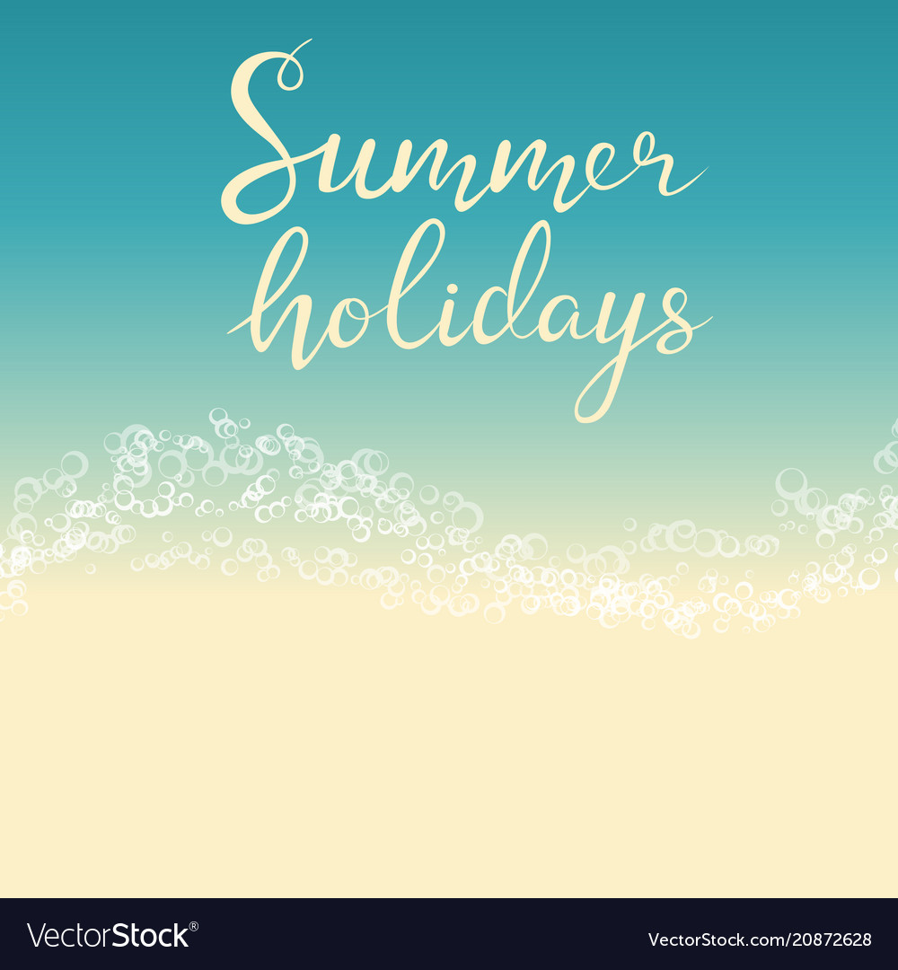 beach summer holiday template for flyer royalty free vector