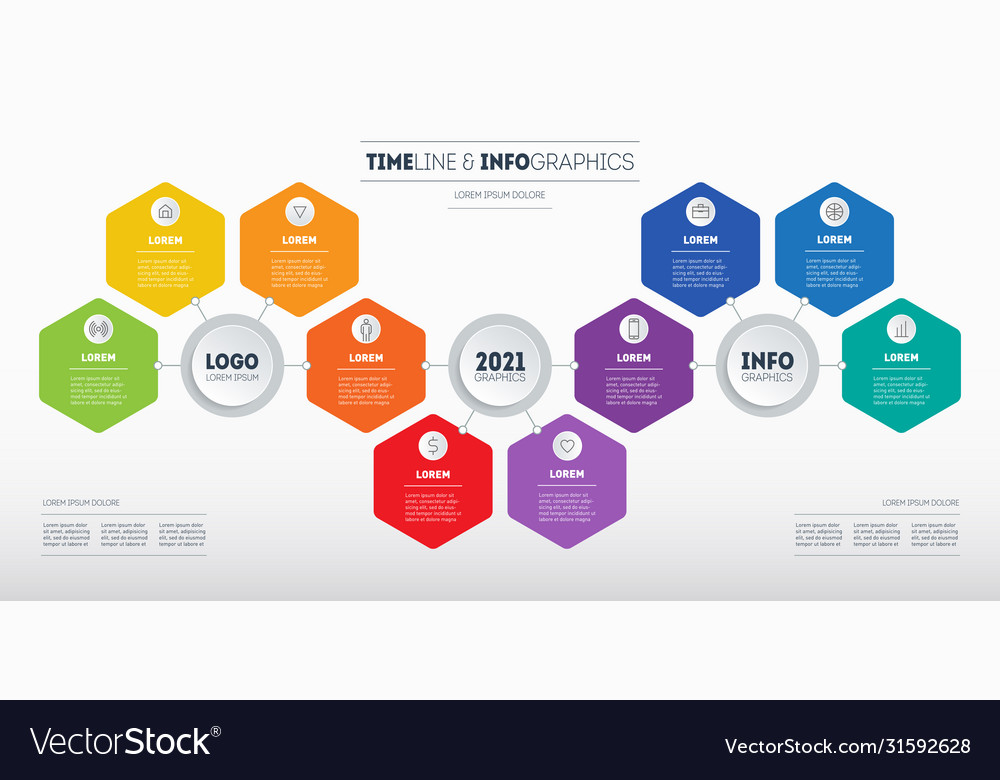 Business presentation concept with 10 parts