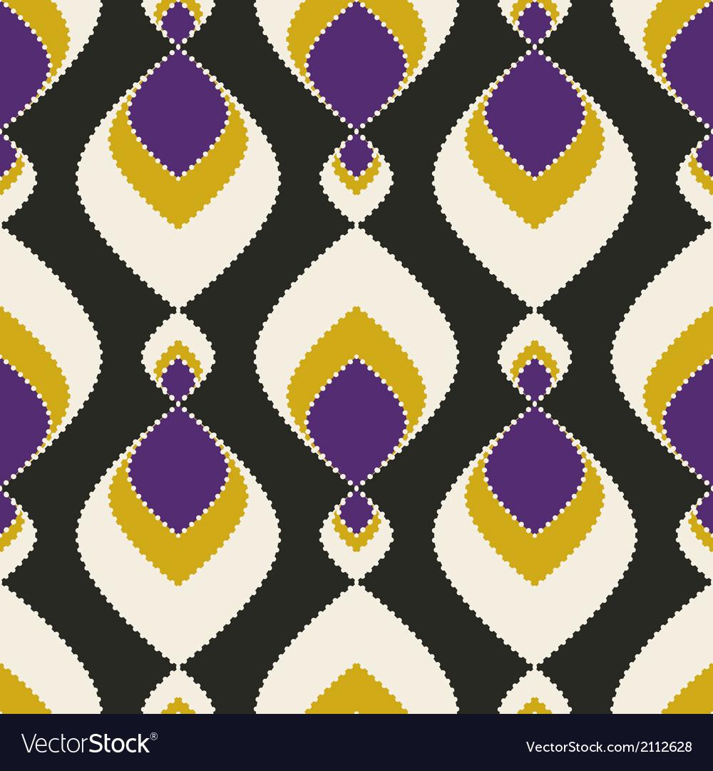 Geometric abstract seamless pattern on black